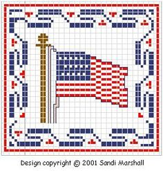 American Flag of 1795 to Cross-Stitch