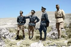 Κρήτη , Ηράκλειο. Ο στρατηγός Kurt Student μαζί με άλλους αξιωματικούς. Απο αριστερά Walter, Bräuer, Student & Schulz. Greece - Crete by Markos Danezis