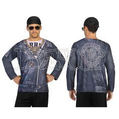 Disfraz camiseta 3 D Motorista para hombre - Dresoop.es