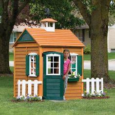 Big Backyard Bayberry Ready-to-Assemble Wooden Playhouse, Big Backyard Playhouse, Bayberry Playhouse Build A Playhouse, Playhouse Outdoor, Wooden Playhouse, Outdoor Toys, Outdoor Fun, Playhouse Ideas, Outdoor Ideas, Outdoor Spaces, Backyard Toys