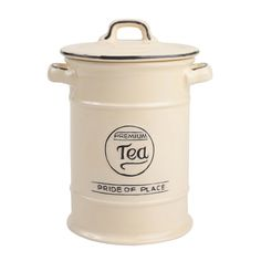 Pride Of Place Tea Jar, Cream | Leekes