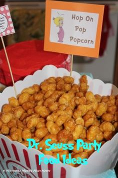 Dr. Seuss Party Food - Hop on Pop Popcorn Recipe - Must Have Mom
