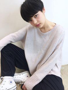 Pin on スタイル Asian Short Hair, Medium Short Hair, Girl Short Hair, Short Pixie, Short Hair Cuts, Short Hair Styles, Pixie Hairstyles, Pixie Haircut, Hair Inspo