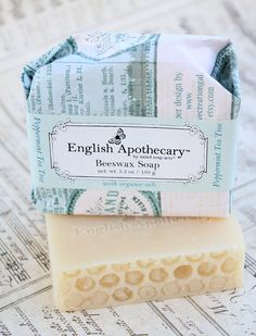 IDEA~~~~ Erin's Peppermint Tea Tree Soap - All natural with Organic Oils & Beeswax, $8
