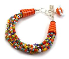 Colorful lampwork bracelet