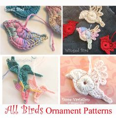 $4.90 4 bird applique patterns