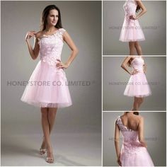 Aliexpress.com : Buy One Shoulder A line Above Knee Pink New Cocktail Dresses from Reliable new cocktail dresses suppliers on HONEYSTORE CO., LIMITED $250.98