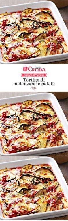 Tortino di melanzane e patate – Rezepte Vegetarian Recipes, Cooking Recipes, Healthy Recipes, Antipasto, Best Italian Recipes, Favorite Recipes, Good Food, Yummy Food, World Recipes