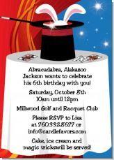 Magic themed birthday party invitations!