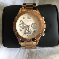 MARC BY MARC JACOBS rose gold watch LOWEST PRICE Purchased in 2014 for $300, letting this one go since I don't wear regular watches anymore. Noticeable scratches on underside of band as shown in 2nd picture. Includes additional links and also needs s new battery.                                PLEASE READ CAREFULLY    PRICE FIRM unless bundled  NO TRADES  NO PAYPAL  NO HOLDS   LOWBALL OFFERS will be ignored  ASK QUESTIONS AND PAY IT FORWARD  Marc by Marc Jacobs Jewelry