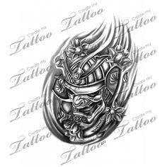 Marketplace Tattoo samurai mask #6848 | CreateMyTattoo.com