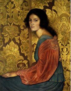 Risultati immagini per jean delville Jean Delville, Victorian Paintings, Yellow Art, Pre Raphaelite, Alfred Stevens, Dutch Artists, Traditional Paintings, Figurative Art, Graphic Art