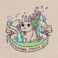 August 2014 Somebunny Needs You tote by OMGTotesAdorable on Etsy, $50.00