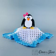 Ravelry: Penguin Lovey Security Blanket pattern by Carolina Guzman.