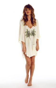Wildfox Couture Twin Palms Tahiti Tunic