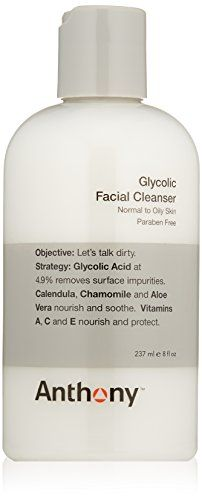 Anthony Glycolic Facial Cleanser 8 fl oz *** You can get more details by clicking on the image. (This is an affiliate link) #FaceTreatmentandMasks