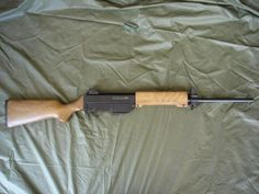 Australian Automatic Arms SAC rifle in 5.56mm NATO.Save those thumbs & bucks w/ free shipping on this magloader I purchased mine http://www.amazon.com/shops/raeind  No more leaving the last round out because it is too hard to get in. And you will load them faster and easier, to maximize your shooting enjoyment.  loader does it all easily, painlessly, and perfectly reliably