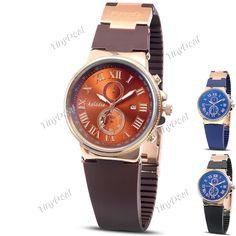Мода Case суб-набор Золотая Silica Мужчины Кварцевые Календарь Часы аналоговые часы наручные часы для мальчика WWT-343961