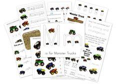 monster truck printables