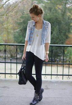 Jeans con chaleco