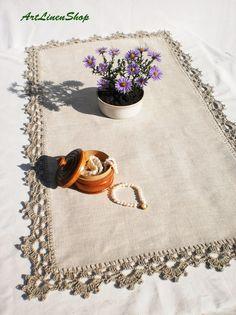 Crochet Borders, Filet Crochet, Crochet Motif, Crochet Patterns, Lace Doilies, Crochet Doilies, Crochet Lace, Tablecloth Fabric, Crochet Tablecloth
