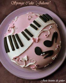 "a taste story: Sponge cake & sugar paste ""PIANO / GIRLY"" for . - -Just a taste story: Sponge cake & sugar paste ""PIANO / GIRLY"" for . - - pink piano cake A pink, flowery piano cake for a girl named Emma! via Cake Central Music Themed Cakes, Music Cakes, Pretty Birthday Cakes, Pretty Cakes, Pink Birthday, Cake Birthday, Fondant Cakes, Cupcake Cakes, Bolo Musical"