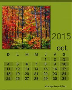 calendrier octobre 2015