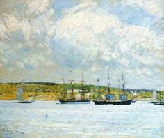 A Parade of Boats - Childe Hassam - The Athenaeum