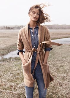 MANGO - Wool-blend long cardigan #FW14 #DariaWerbowy