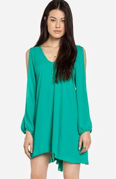 Split Sleeve Trapeze Dress