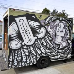 GATS (Graffiti Against The System) and NO BONZO delivery truck graffiti