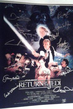 Star Wars Return of the Jedi Signed 16x20 Photo