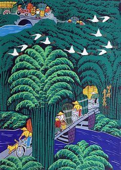 Bamboo Village - South Chinese folk art