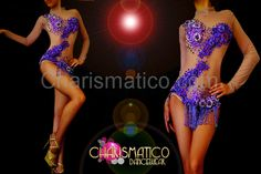 Nude Illusion appliqué accented Burlesque dance leotard with Crystal beads