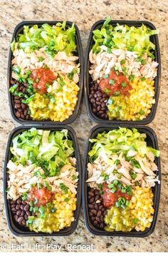 No-Cook Meal Prep Burrito Bowls Meal prep burrito bowls make a great lunch to last the week, plus this version requires zero cooking! Have a healthy lunch ready for the week in 10 minutes! keto lunch No-Cook Meal Prep Burrito Bowls - New Ideas Clean Eating Dinner, Clean Eating Snacks, Healthy Snacks, Healthy Eating, Lunch Snacks, Eating Habits, Healthy Cooking, Healthy Work Lunches, Healthy Burritos
