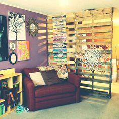 decoração caixotes madeira divisoria - Pesquisa Google