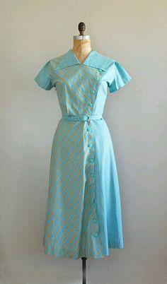 Turquoise vintage dress
