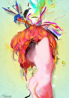 Miere by Archan Nair   #art #illustration