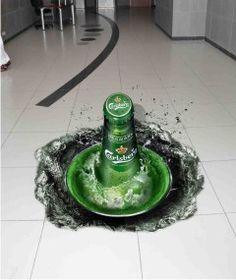 Sprite tickles your taste buds with a refreshing floor decal.