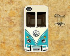 Iphone 4 Case VW Minibus Teal Iphone CaseIphone 4s by QlassicCases, $16.00 For Squantch