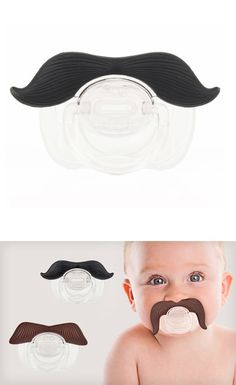 Mustache pacifier. Hecks yes! Done and done. My child will just have to deal lol