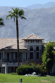 The Gorgeous Building against the Backdrop of Mountains