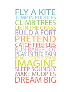 Prints for kids Inspiration quote prints for by CreativeWildChild on Etsy