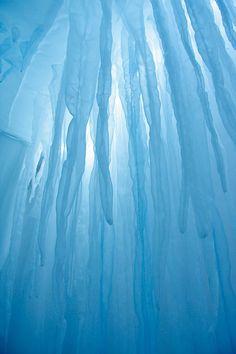 abstract glacial sculptures