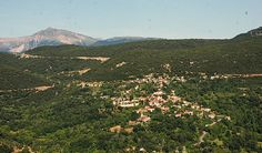This is basically the same view from my grandmothers house looking at Anatoliki Fragista Grandmothers, Greece, Beautiful Places, Adventure, Mountains, House, Travel, Greece Country, Viajes