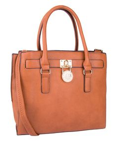 Take a look at this Cognac Brown Plora Padlock Shoulder Bag on zulily today! I want this bag!