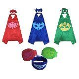 The perfect gift for your young hero! Pack of the three Catboy Owlette and Gekko. Comes with a cape and mask for each. Capes are high quality double sided satin. They are made to withstand ma...