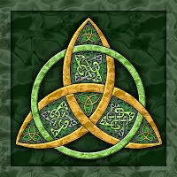 The Celtic Trinity Knot, or the Triquetra, is one of the most common of the Celtic knots. Celtic meaning – Feminine Powers (Maiden-Hope, Mother-Fertility, and Crone-Wisdom)