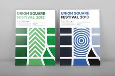 Union square New York huisstijl