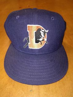 9fffc9924f2 Vtg Durham Bulls Fitted hat cap rare NEW ERA Minor League MiLB size 7 1